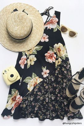 FOREVER 21+ Floral Mix-n-Match Print Dress $19.90 thestylecure.com