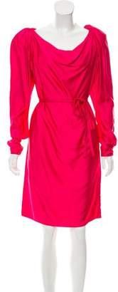 Lanvin Long Sleeve Knee-Length Dress w/ Tags