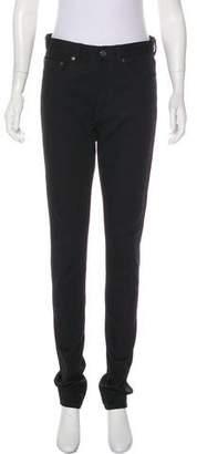 Saint Laurent High-Rise Straight-Leg Jeans