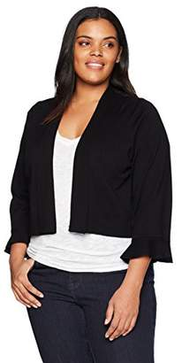 Calvin Klein Women's Plus-Size Lurex Basic Shrug Sweater