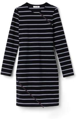 Lacoste (ラコステ) - ボーダー ジップデザイン ドレス (長袖)