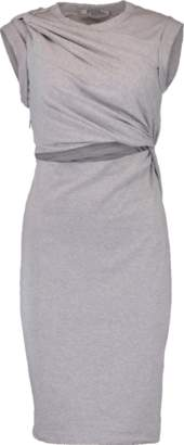 Alexander Wang Compact Jersey Twist Shoulder Dress