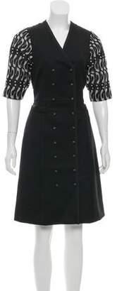 Thom Browne Button-Up Midi Dress