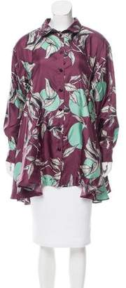 Antonio Marras Printed Button-Up Blouse w/ Tags
