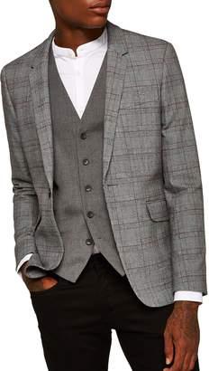 Topman Skinny Fit Check Sport Coat