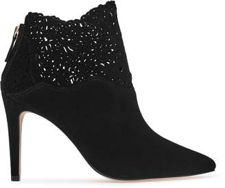 Reiss Peyton Laser-Cut Ankle Boots