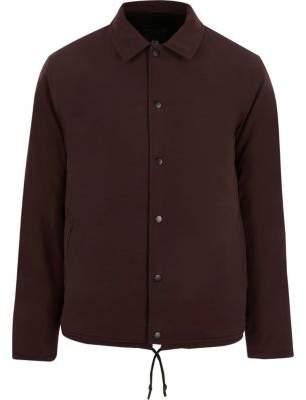 River Island Burgundy fleece lined coach jacket