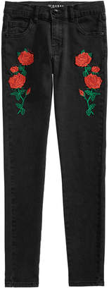 GUESS Big Girls Embroidered Super Skinny Jeans