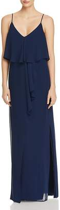 Laundry by Shelli Segal Tiered Chiffon Gown