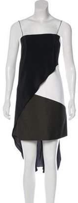 Narciso Rodriguez Asymmetrical Midi Dress Black Asymmetrical Midi Dress