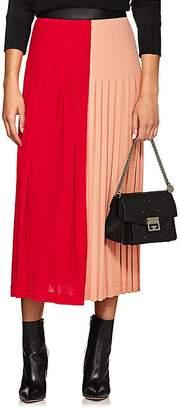 Givenchy Women's Bi-Color Stretch-Crepe Midi-Skirt