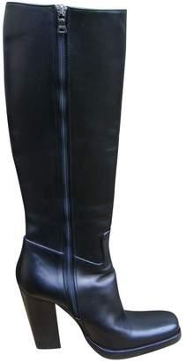 Prada Black Leather Boots