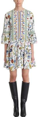 Tory Burch Ivory Crepe-de-chine Dress