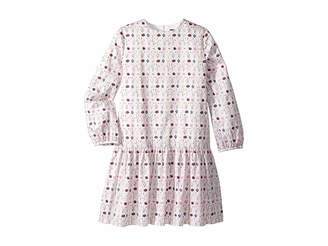 Oscar de la Renta Childrenswear Long Sleeve Printed Day Dress (Little Kids/Big Kids)