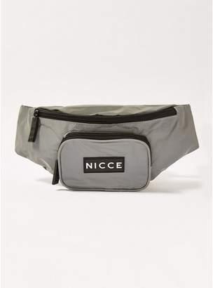 Nicce Mens Reflective Silver 'Ref' Cross Body Bag