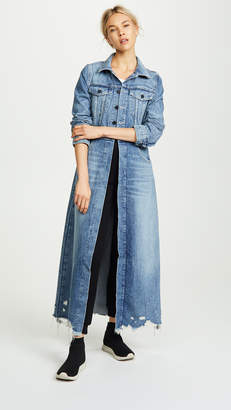 Alexander Wang Denim x Fitted Trench Coat