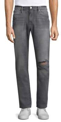 Frame L'Homme Slim Fit Distressed Jeans