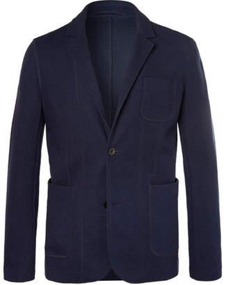 Mr P. Navy Slim-Fit Unstructured Jersey Blazer