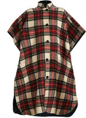 Burberry Reversible checked wool-blend poncho