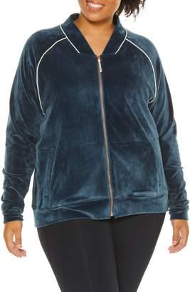 SHAPE Activewear Techno Velour Track Jacket