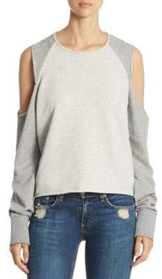 Rag & Bone Slash Cold-Shoulder Sweatshirt