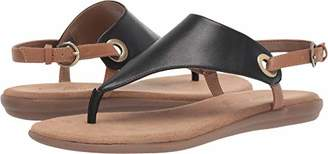 Aerosoles Women's in Conchlusion Sandal - Leather Toe Strap Summer Flat Shoe with Memory Foam Footbed (10M - )