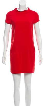 Alice + Olivia Mock Neck Shift Dress