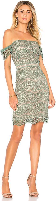 Alexander Mini Dress in Sage. - size 2/XS (also in 4/S,6/M,8/L) Stylestalker