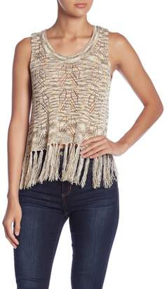 Romeo & Juliet Couture Fringe Knit Tank Top