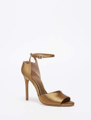 Halston Simone Satin Ankle Strap High Heel