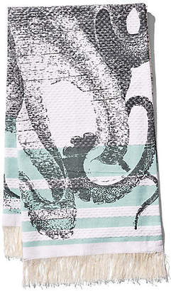 Thomas Paul Pulpo Banya Hand Towel - Aqua/Black