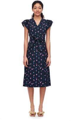 Rebecca Taylor Farren Flower Poplin Dress