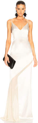 Galvan Salinas Dress in Platinum & Sand | FWRD