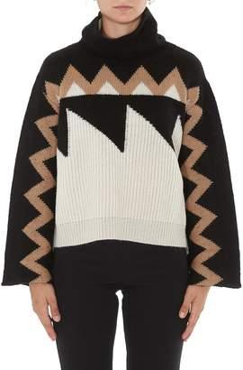 Nude Gemometric Jacquard Sweater