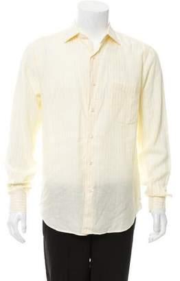 Loro Piana Linen Button-Up Shirt