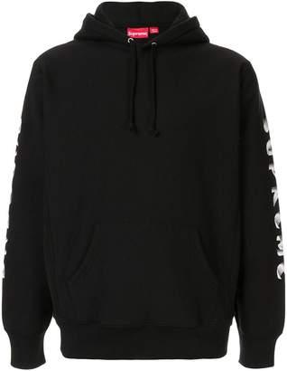 Supreme gradient sleeve hooded sweatshirt