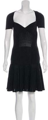 Alexander McQueen Metallic Rib Knit Dress