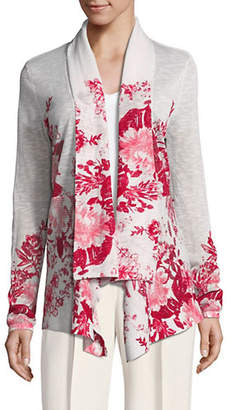 INC International Concepts Printed Open Front Cardigan