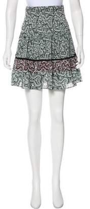 A.L.C. Floral Knee-Length Skirt