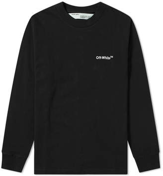 Off-White Off White Long Sleeve Off Mock Up Tee