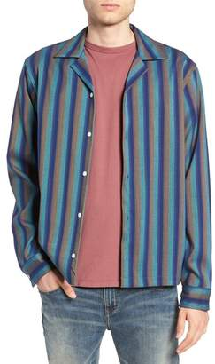 Saturdays NYC Marco Frequency Long Sleeve Woven Shirt