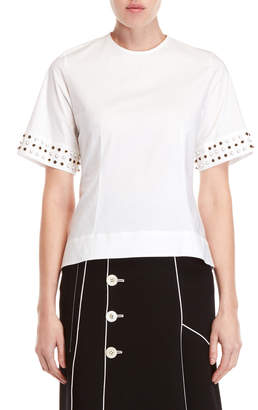 Derek Lam Embellished Cuff Top
