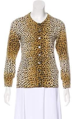 Dolce & Gabbana Cheetah Print Cashmere Cardigan