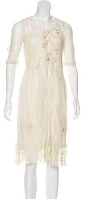 Anna Sui Lace Knee-Length Dress
