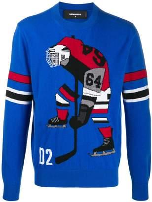 DSQUARED2 hockey player crew neck jumper