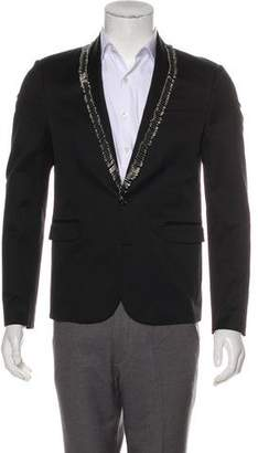 DSQUARED2 Safety Pin-Accented Twill Blazer