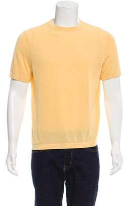 Hermes Silk-Blend Crew Neck T-Shirt