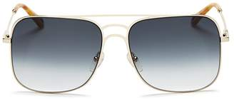 Chloé Ricky Triple Bridge Gradient Navigator Sunglasses, 58mm