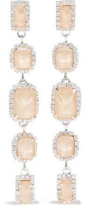 Elizabeth Cole Silver-Tone Swarovski Crystal And Stone Earrings
