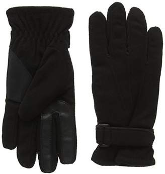 Isotoner Smartouch Mens Fleece Gloves,Small (Size:Small/Medium)